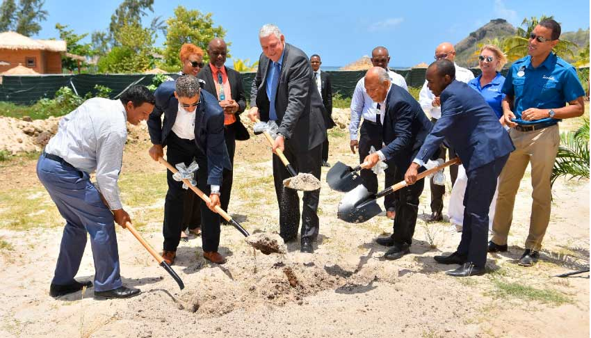 Image of the groundbreaking ceremony several weeks ago