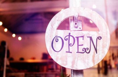 Image of a business' open sign