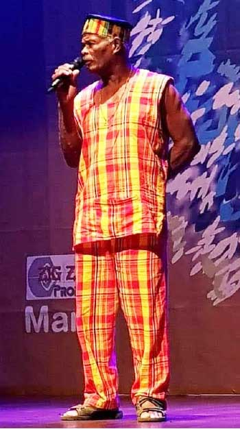 Image: ON STAGE: Saint Lucia's very own Augustine 'Charley' Julian joined creole musicins and sorytellrs from around the world at the recent annual international festival.