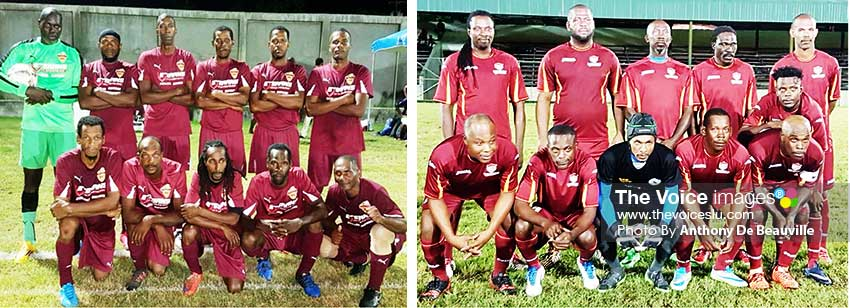 Image: Defending champions Soufriere and last year's finalist Gros Islet. (PHOTO: Anthony De Beauville)