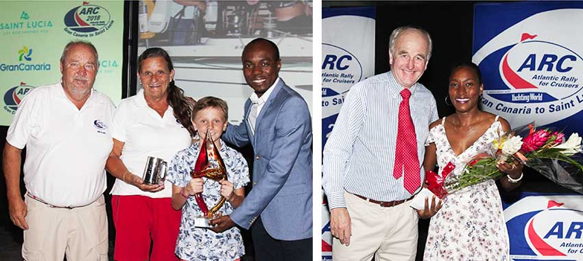 Image: (L-R) Minister for Tourism, Dominic Fedee presenting award to the winner Class D – Freedom; WCC Director Andrew Bishop and Events Company Saint Lucia representative, Tessa Joseph. (PHOTO: WCC)