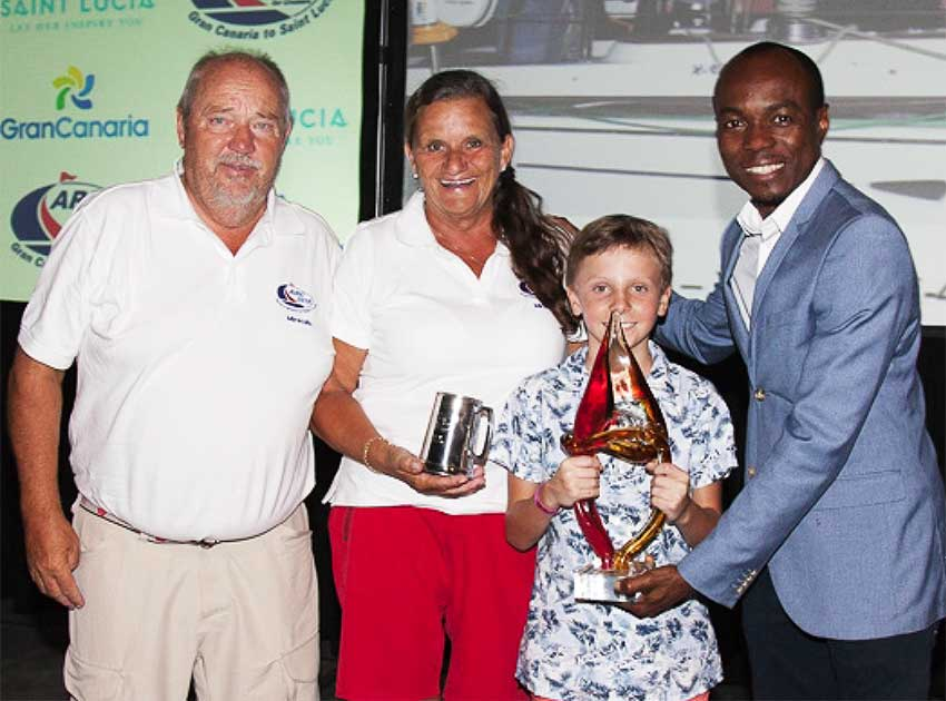 Image: Minister for Tourism, Dominic Fedee presenting award to the winner Class D – Freedom (PHOTO: WCC)