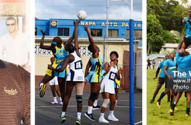 Image: (L-R) Sports Consultant, Joseph 'Reds' Perreira, Saint Lucia versus Saint Martin (Netball, Saint Lucia versus Martinique (Rugby). (PHOTO: Anthony De Beauville)
