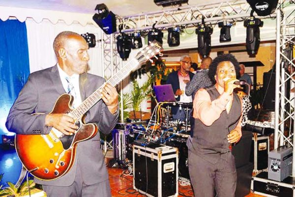 Image: World-renowned guitarist Ronald 'Boo' Hinkson was Saint Lucia's headliner at the event in Martinique last weekend to raise funds for the Marine Police. (PHOTO: Courtesy Saint Lucia Consulate in Martinique)