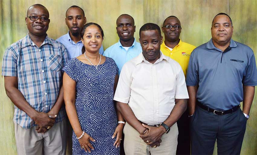 Image of the new executive members of the St. Lucia Shipping Association