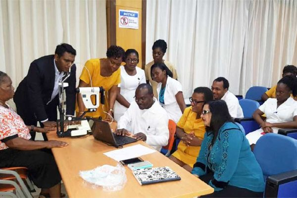Image: The Department of Health and Wellness is continuing its work towards strengthening the diabetic retinopathy services on island through training of health care professionals.