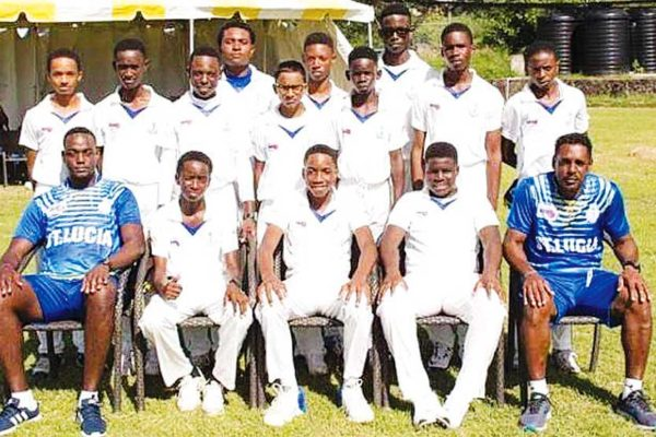 A photo moment Windward Island U15 Cricket champions, Saint Lucia.