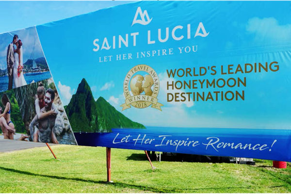 Image of World's Leading Honeymoon Destination billboard