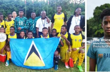 Image: Some of the boys seen here will represent their various districts in the SLFA tournament; Dante Fitz will be in the thick of things for Central Castries. (PHOTO: CFU/ Anthony De Beauville)