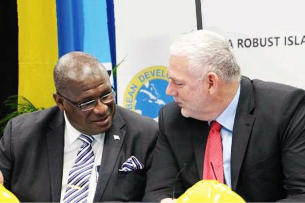 Image of MP Stephenson King & Prime Minister Allen Chastanet