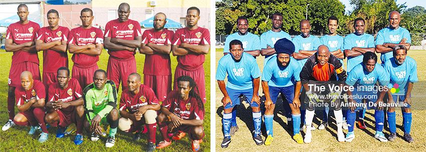 Image: (L-R) Defending champions Soufriere; Flow Lancers FC .(PHOTO: Anthony De Beauville)