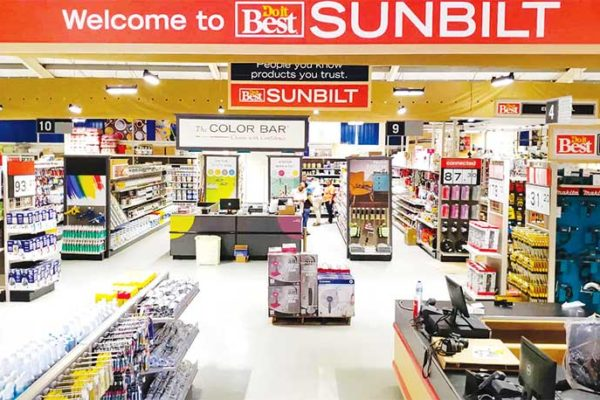 Image of inside the new Sunbuild store.
