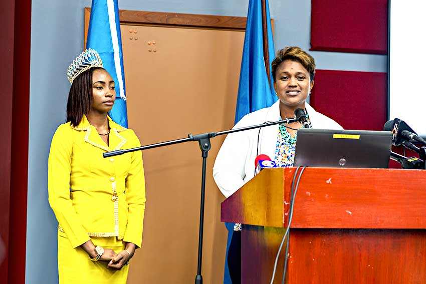 Image: Miss Independence 2018 Kurnisha Augustus with Diane Felicien Ms. Independence Committee member