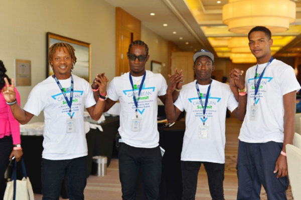 Image: Participants in the Youth Violence Prevention Summit in Guyana earlier this week.