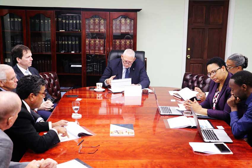 Image of Prime Minister Allen Chastanet heading the negotiations (Photo courtesy Facebook:@allenmchastanet)