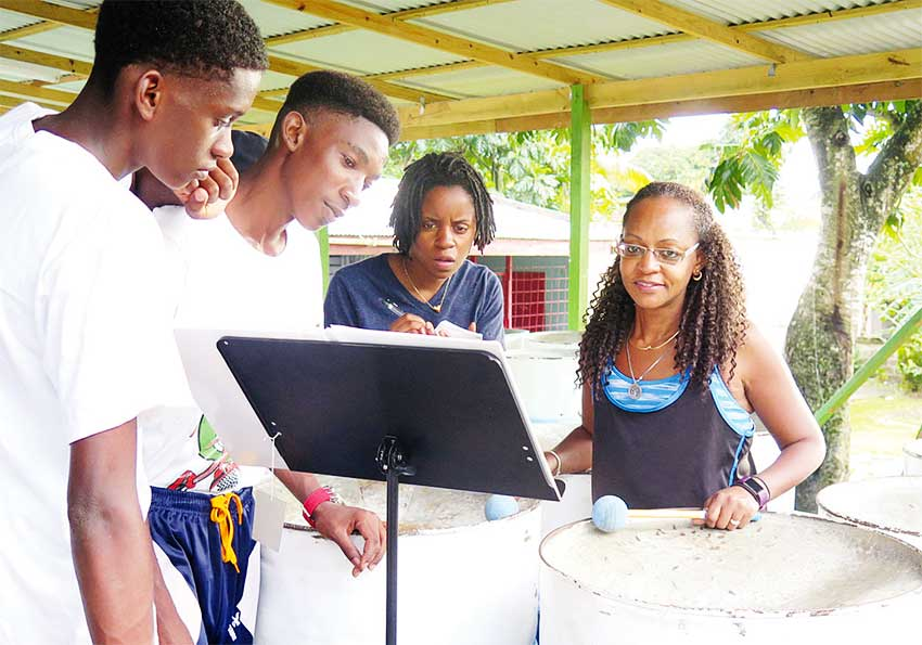 Image: Professional and amateur musicians, as well as music students from the USA, Australia and France, have converged on Laborie for the third edition of the annual Laborie Steel Pan and Brasilian Percussion Workshop. Hosted by Labowi Promotions and Laborie Steel Pan, this 10-day experience offers participants steel band and Brasilian percussion rehearsals, as well as master classes that cover a range of topics, such as the history of steel band music, arranging, and improvising.