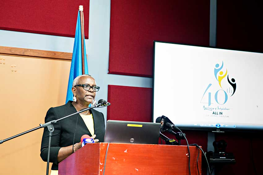 Image: Senator Hon. Fortuna Belrose Minister with responsibility for Culture and Creative Industry