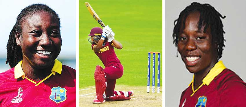 Image: (L-R) Stafanie Taylor, Haley Matthews and Qiana Joseph. (PHOTo: Getty Images/CWI)