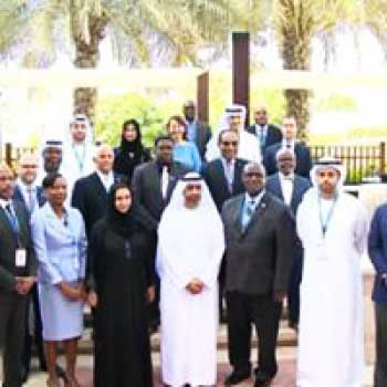Image: The Saint Lucia minister (2nd from right) with hosts and fellow guests at the UAE meeting