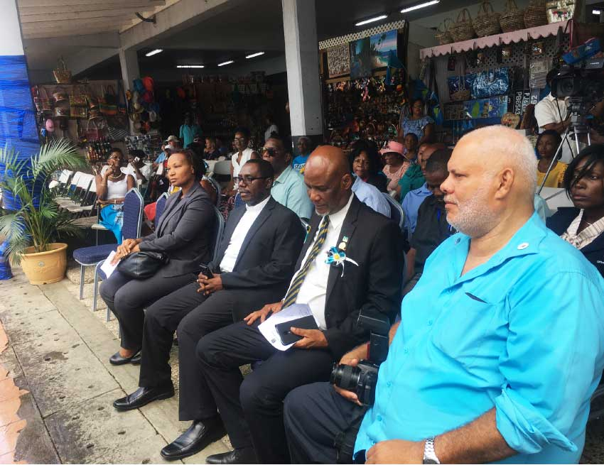 Image: A special ceremony held this month paid tribute to contributions of vendors in Castries.