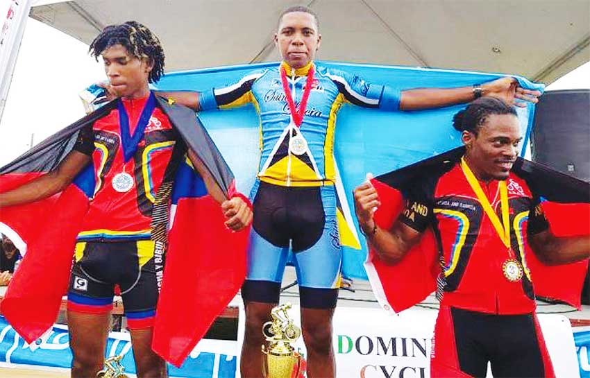 Image: How can a President of a National Sports Federation forget such a wonderful moment like this? Saint Lucia Andrew Norbert 2018 OECS Cycling Champion.