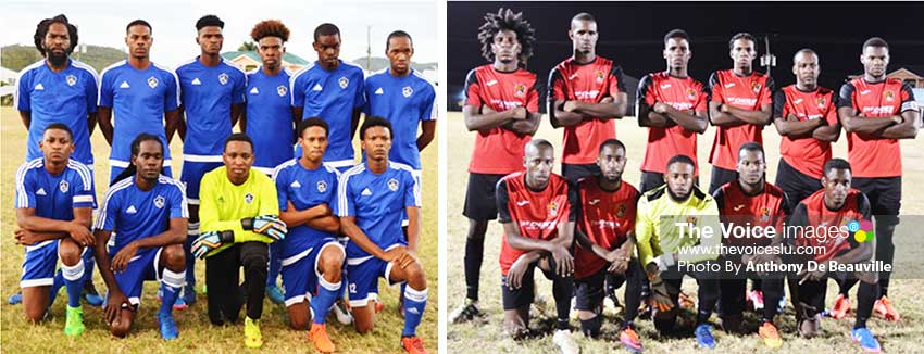 Image: (L-R) Defending champions Platinum FC; TiRocher FC, the two teams will start their campaign tomorrow at the PMG (Photo: Anthony De Beauville)
