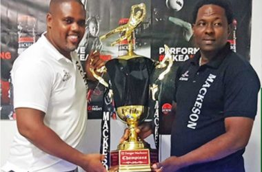 Image of Mackeson Brand Manager, Ed Mathurin and Tournament Organizer, DJ Dongar Mc Donald