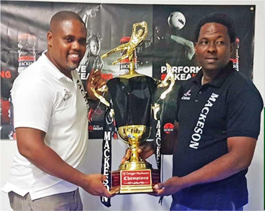 Image of Mackeson Brand Manager, Ed Mathurin and Tournament Organizer, DJ Dongar Mc Donald