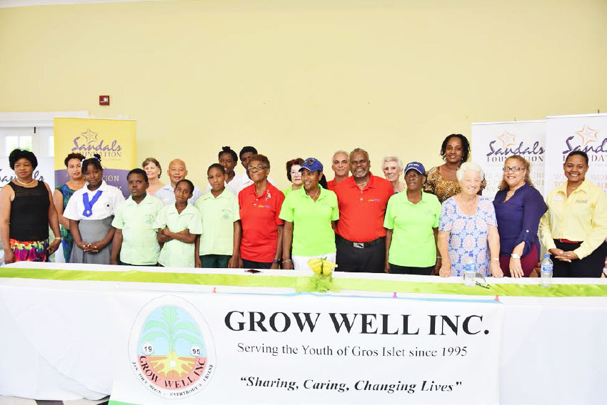 Image: Grow Well Group – Sandals Foundation backs the Grow Well Junior Golf programme and students to the tune of $72,000 for 2019.