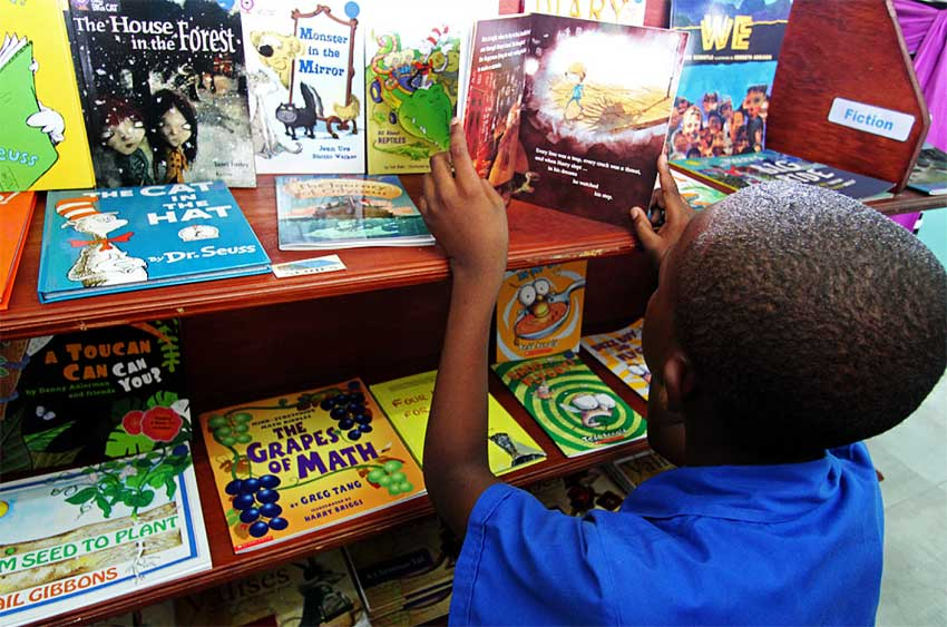Image: Hands Across the Sea's efforts are creating more young book lovers in Saint Lucia.