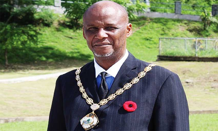 Image of Mayor of Castries Peterson Francis.