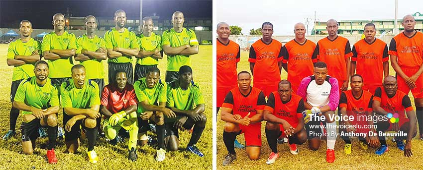 Image: (L-R) Plate finalist, Dennery All Black set to take on Laborie Veterans today at the PMG. (PHOTO: Anthony De Beauville)