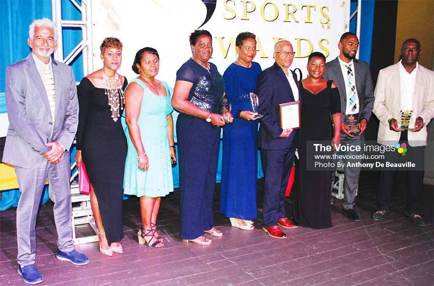 Image: Saint Lucia Amateur Swimming Association copped the Association of the Year award. (PHOTO: Anthony De Beauville)