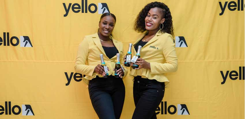 Image of Yello promo ladies in full spendour. (PHOTO: Belle Portwe)