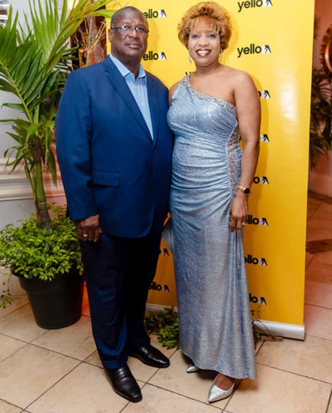 Image of Minister for Infrastructure, Ports, Energy and Labour Stephenson King and wife Rosella. (PHOTO: Belle Portwe)