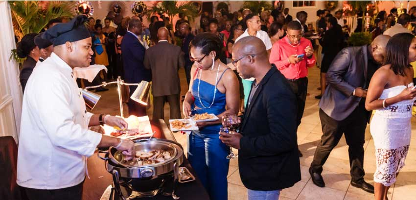Image: Food and drinks flowed freely. (PHOTO: Belle Portwe)