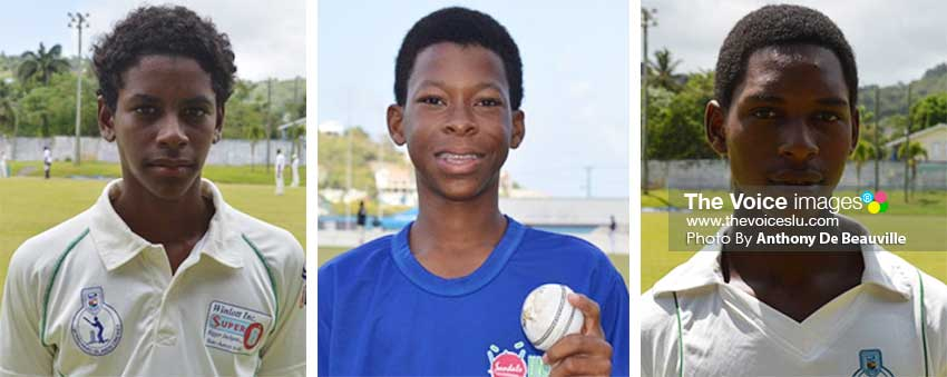 Image: (L-R) Ackeem Auguste (St. Mary's College and Simeon Gerson (Sir Arthur Lewis Community College) will face each other in what is expected to be a thrilling encounter at the MPP; Lee Solomon will lead the charge for Corinth Secondary versus Micoud Secondary match up at the Wenn playing field. (PHOTO: Anthony De Beauville)