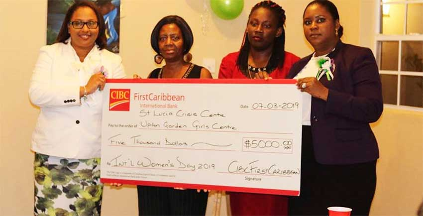 Image: Donations to the Upton Gardens Girls Centre and the Saint Lucia Crisis Center amounted to $5,000.