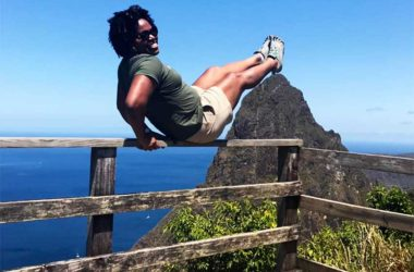 Image of SLTA Director of Marketing for the USA, Kelly Fontenelle-Clarke – the Tourism Authority's new campaign encourages Saint Lucians to be adventurous.