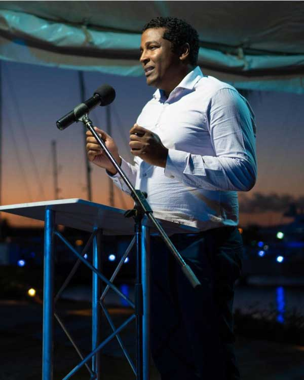 img; Business Solutions Manager at Digicel St. Lucia John Gidharry sharing the various features and benefits of d'Concierge.