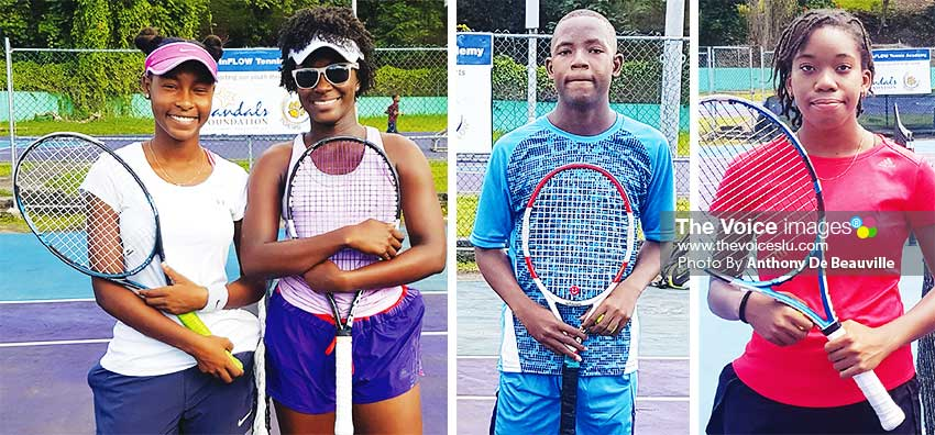 Image: (L-R) This evening in Women's Open, NadjemaMorille will play Netanya Faissal; Peterson George set to play Corey Charles in Men's action; while Aviona Edmund will be on show at the weekend.(PHOTO: Anthony De Beauville)