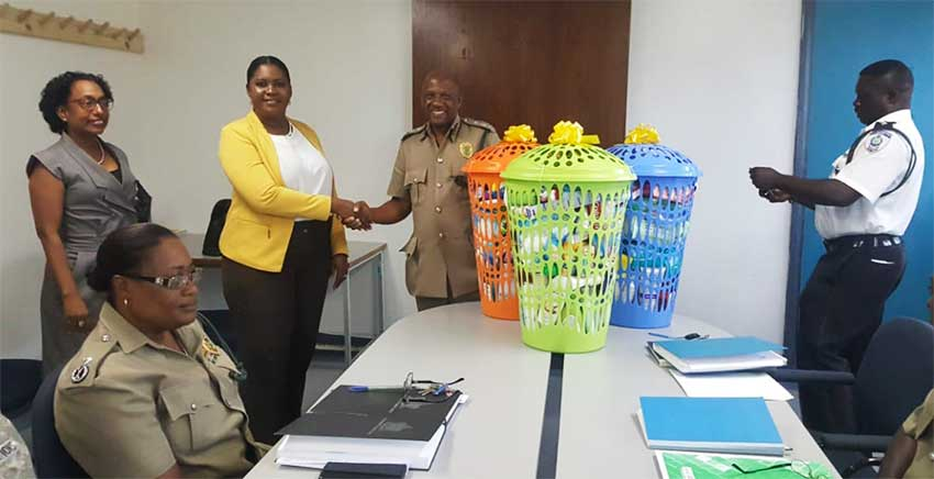 Image: As part of celebrations donations were also made to the female section of the Bordelais Correctional Facility.
