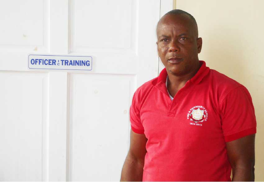 Image: Saint Lucia Fire Service Divisional Officer Ditney Downes.