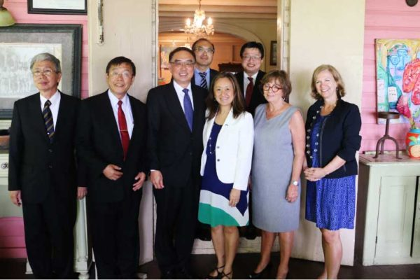 Image of Taiwanese and U.S. delegations at this week's meeting.