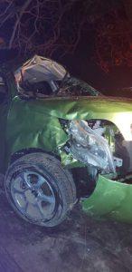 Wrecked vehicle Vigie Beach
