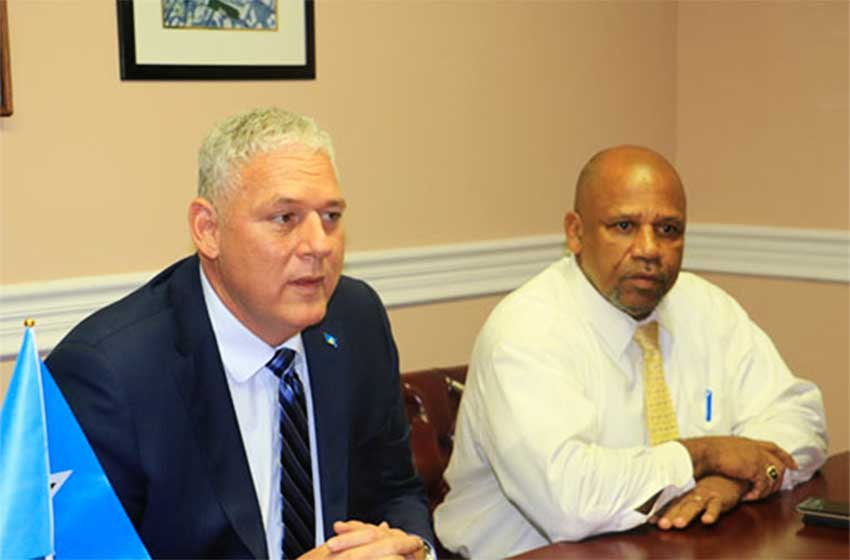 Image of Prime Minister Honourable Allen Michael Chastanet and Minister for Agriculture, Fisheries, Physical Planning, Natural Resources and Co-operatives Honourable Ezechiel Joseph