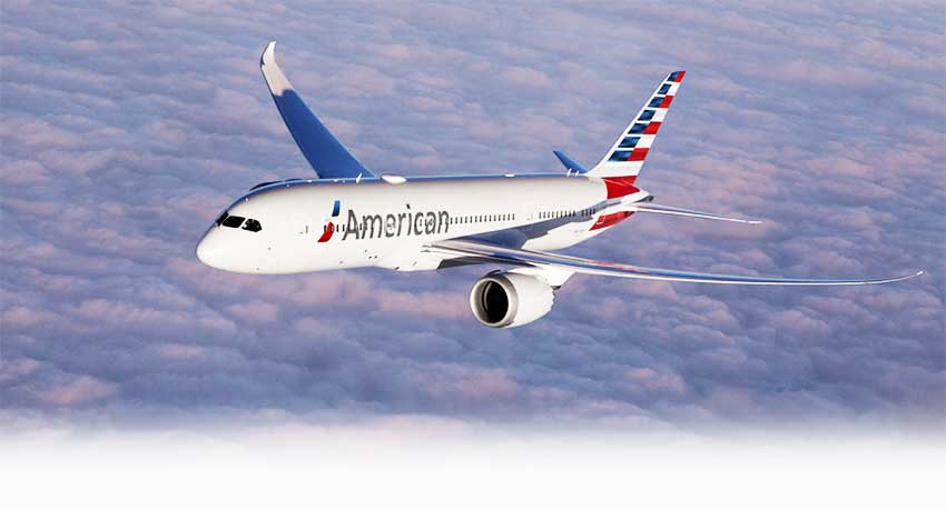 Image of American Airlines flight
