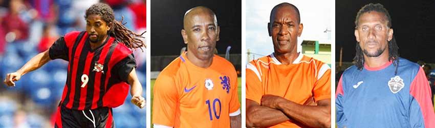 Image: (L-R) Arnold Dwarika (Trinidad and Tobago); Earl Jean, Trevor Cadet and Titus Elva (Saint Lucia). (PHOTO: VISI/ Anthony De Beauville)