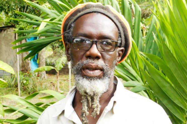 Image of Burnet Sealy, Chairman of the Caribbean Rastafarian Organization.