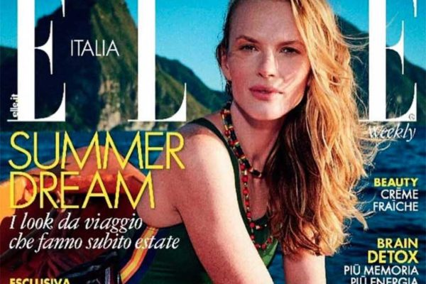 Image: Saint Lucia featured as the stunning backdrop for Elle Italia.